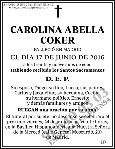 Carolina Abella Coker